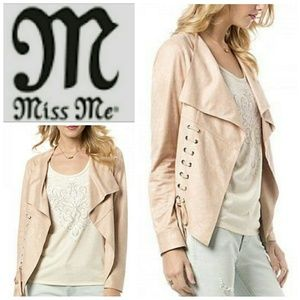 MISS ME faux suede jacket